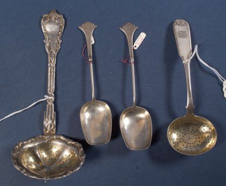 Four Russian Flatware Items