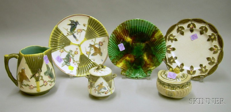 Six Pieces of Assorted Wedgwood Majolica Tableware
