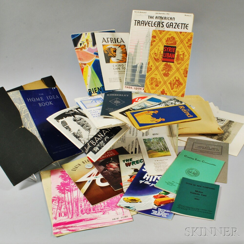 Group of Vintage Travel Guides and Brochures