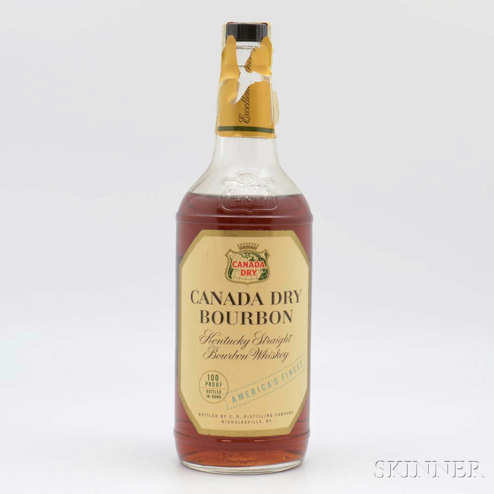 Canada Dry Bourbon 7 Years Old 1950, 1 4/5 quart bottle