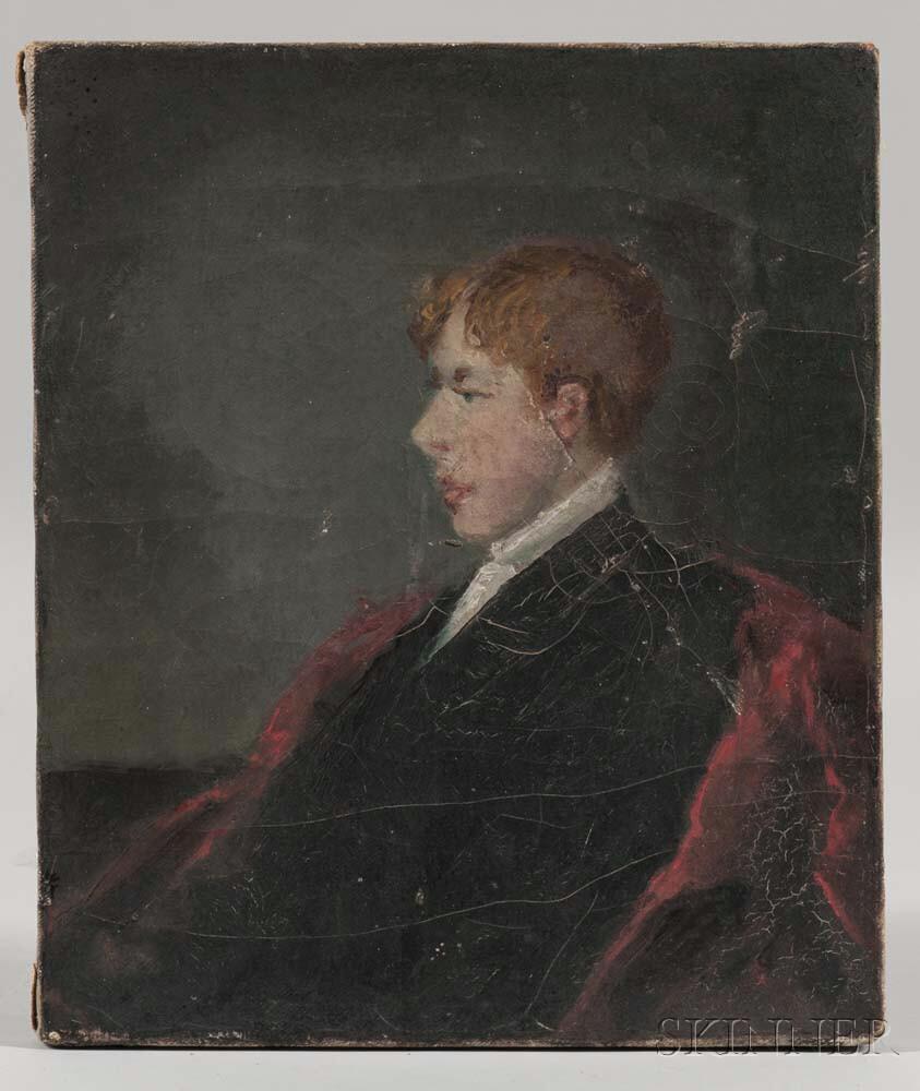 William Willard (Massachusetts, 1819-1904)      Portrait of a Boy in Profile, Probably the Artist's Son