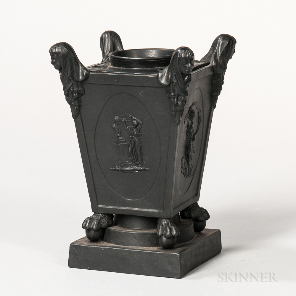 Turner Black Basalt Bough Pot and Cover