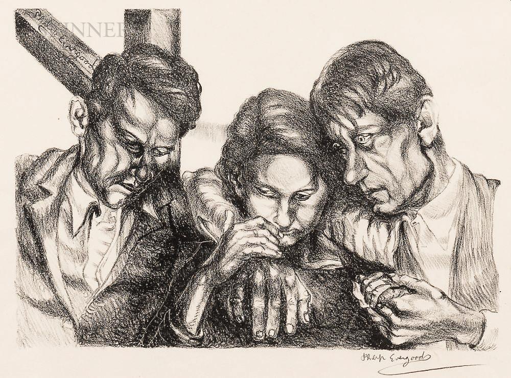 Philip Evergood (American, 1901-1973)      Consolation