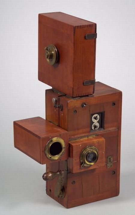 Rare Chronophotographe 35 mm. Cinematographic Camera by Georges Demeny