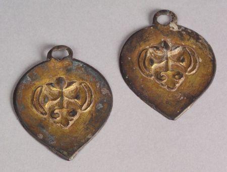 Pair of Gilt-bronze Harness Elements