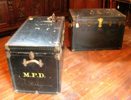 Two Large Steamer Trunks.