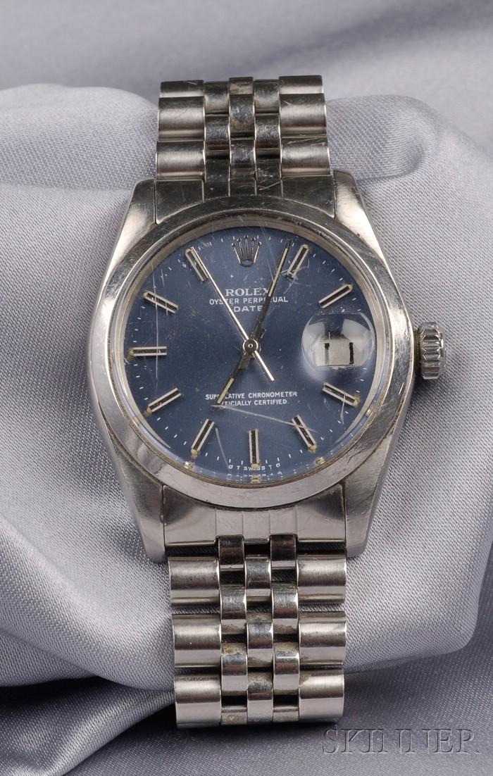 Gentleman's Stainless Steel Wristwatch, Rolex