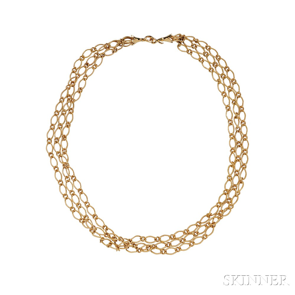 18kt Gold Necklace, Janet Mavec