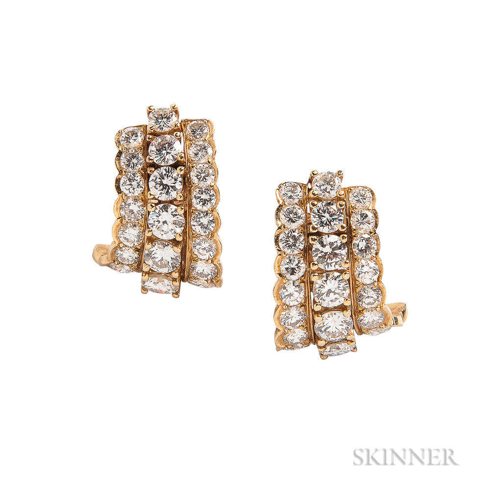 18kt Gold and Diamond Earrings, Tiffany & Co.