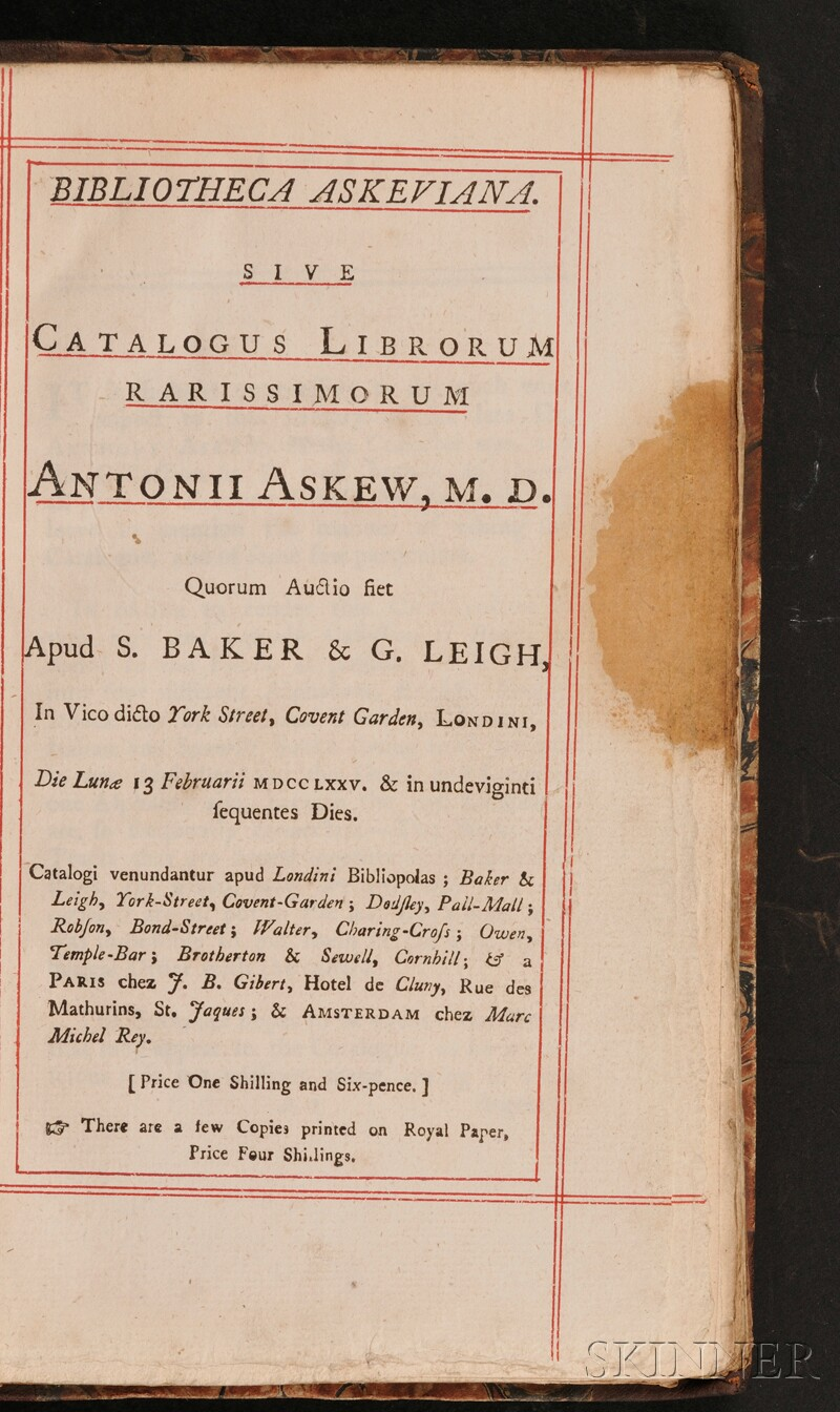 (Library Sale Catalog), Askew