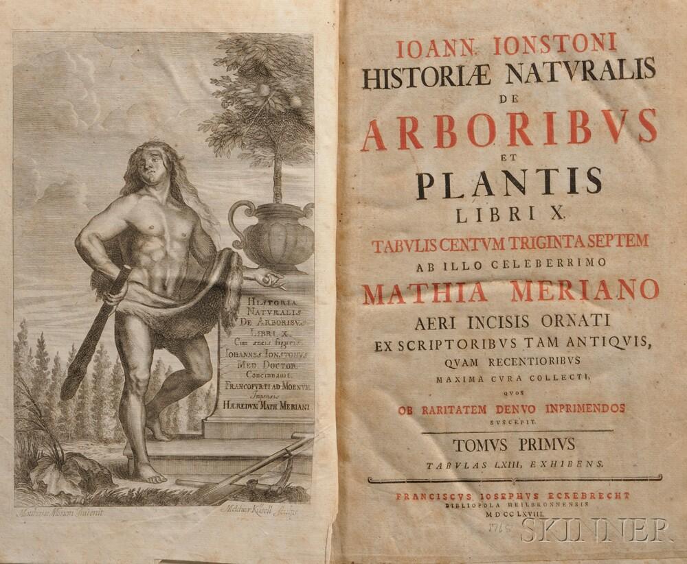 Jonstonus, Joannes (1603-1675) Historiae Naturalis de Arboribus et Plantis