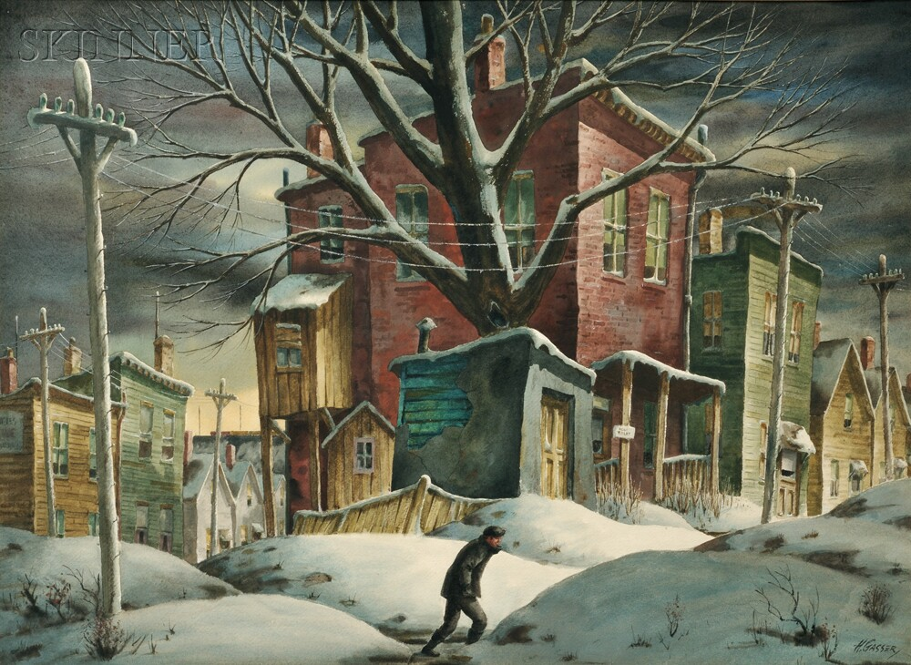 Henry Martin Gasser American 1909 1981 Flat To Let