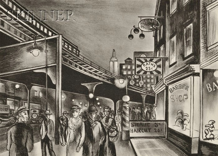 Ernest Fiene (American, 1894-1965)      End of the Bowery