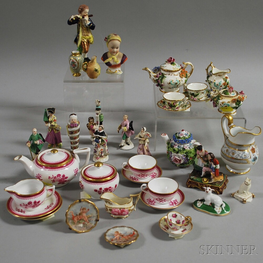 Approximately Thirty-seven Miniature Porcelain Items
