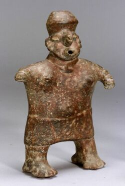 Pre-Columbian Pottery Human Effigy Vessel