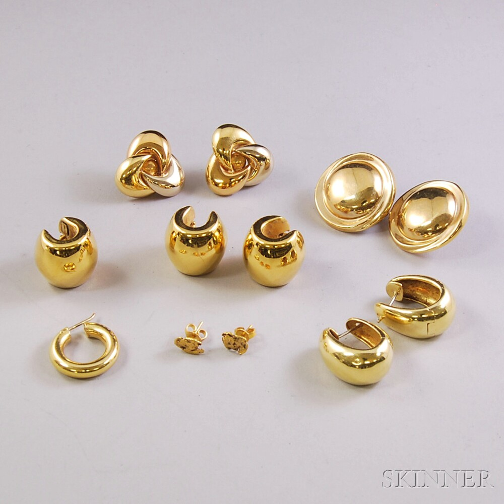 Group of Gold Earrings