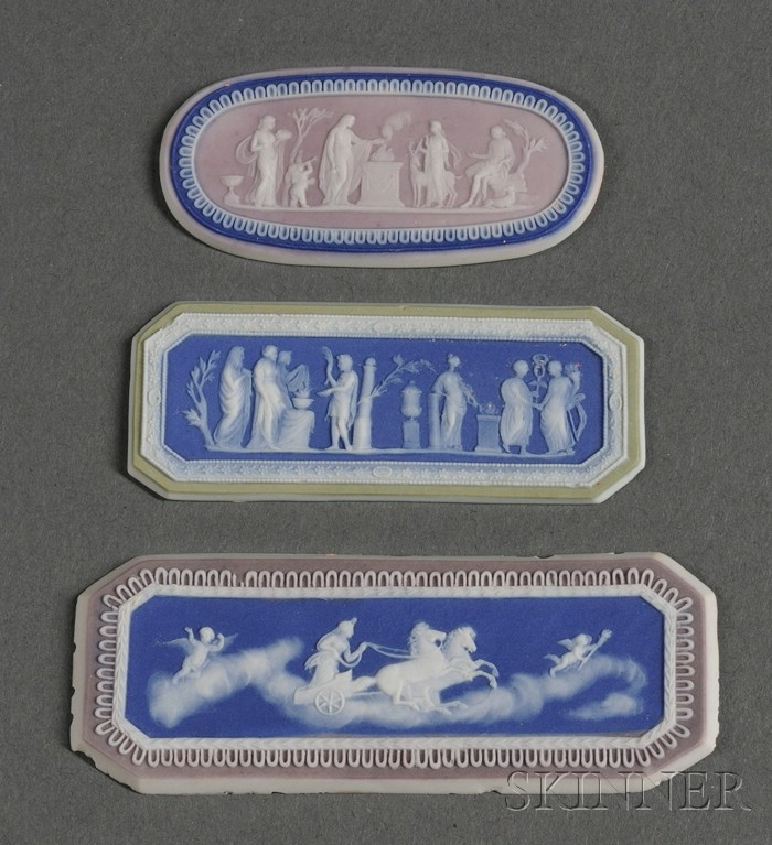Three Wedgwood Three-Color Jasper Dip Medallions