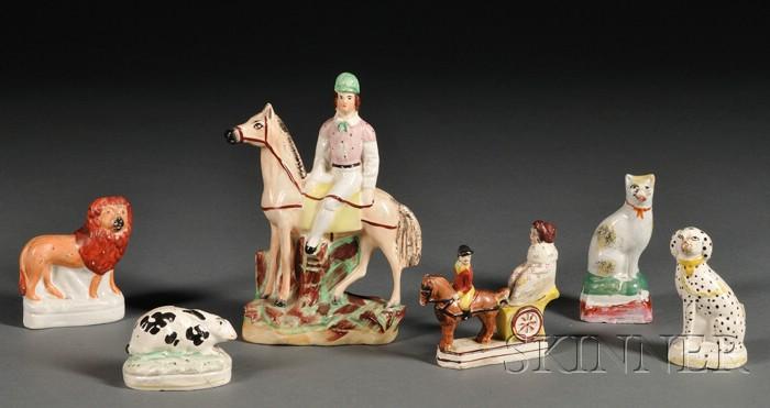 Six Staffordshire Earthenware Figures