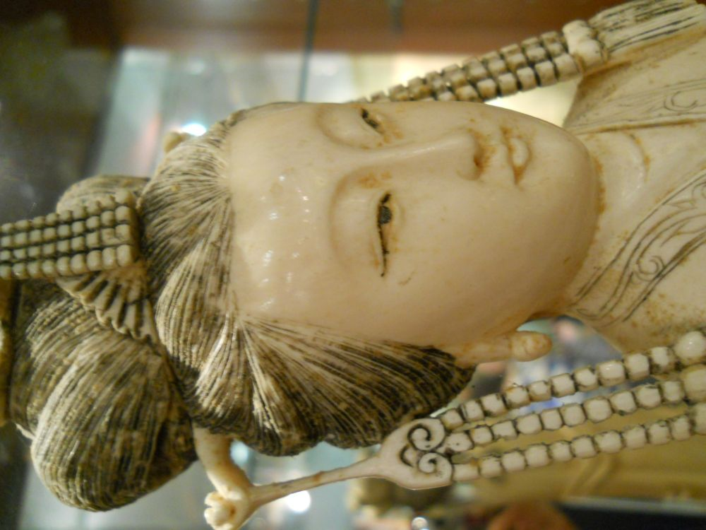 Ivory Tusk Carving of a Woman