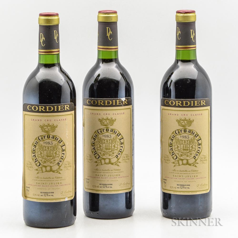 Chateau Gruaud Larose 1983, 3 bottles