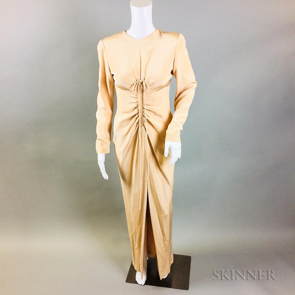 Oscar de la Renta Blush Silk Gown