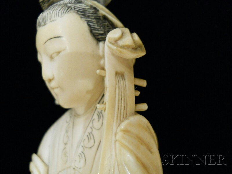 Pair of Ivory Carvings