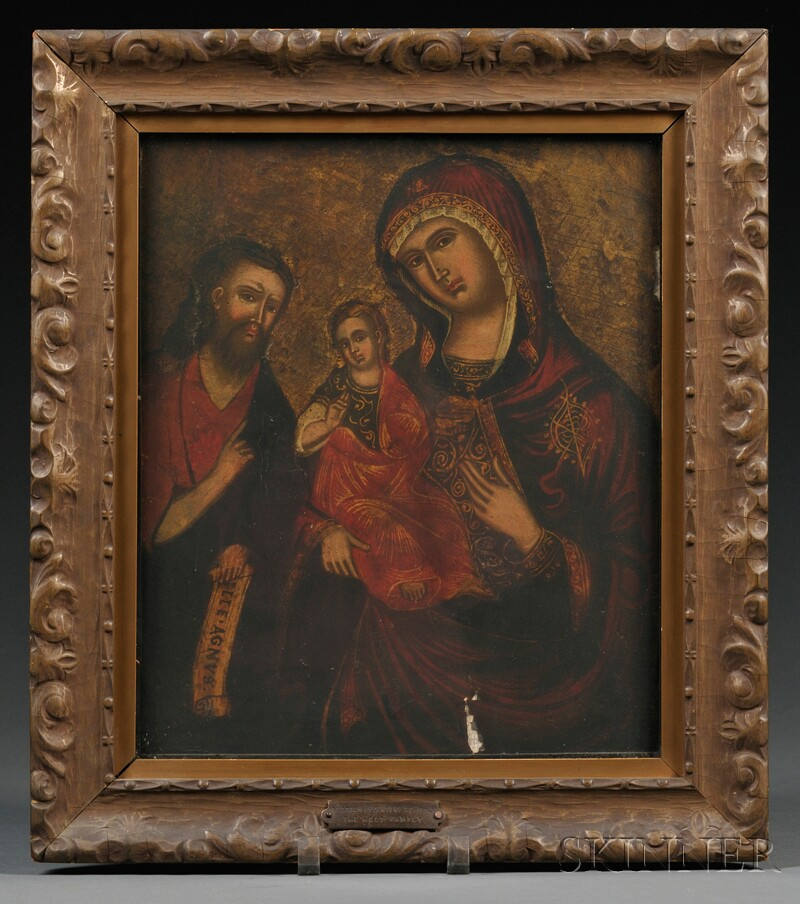 Russian Icon of the Holy Family