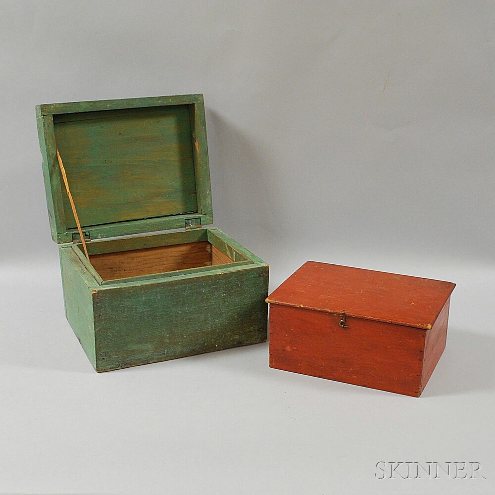 Two Painted Boxes