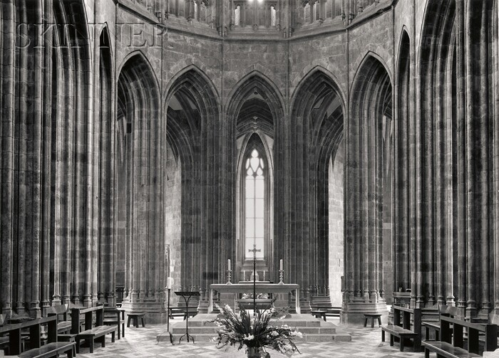 Paul Caponigro (American, b. 1932)      Mt. St. Michelle, Altar, France.