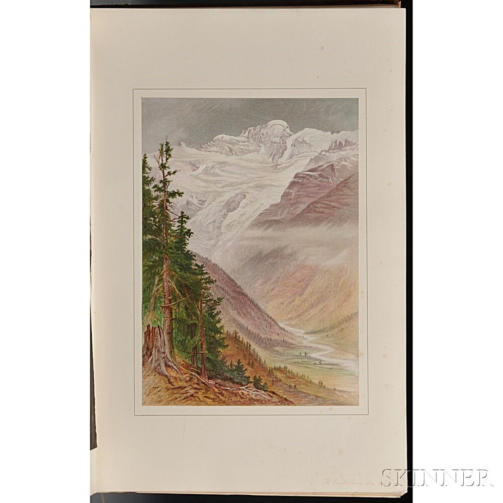 Walton, Elijah (1832-1880) Peaks and Valleys of the Alps.