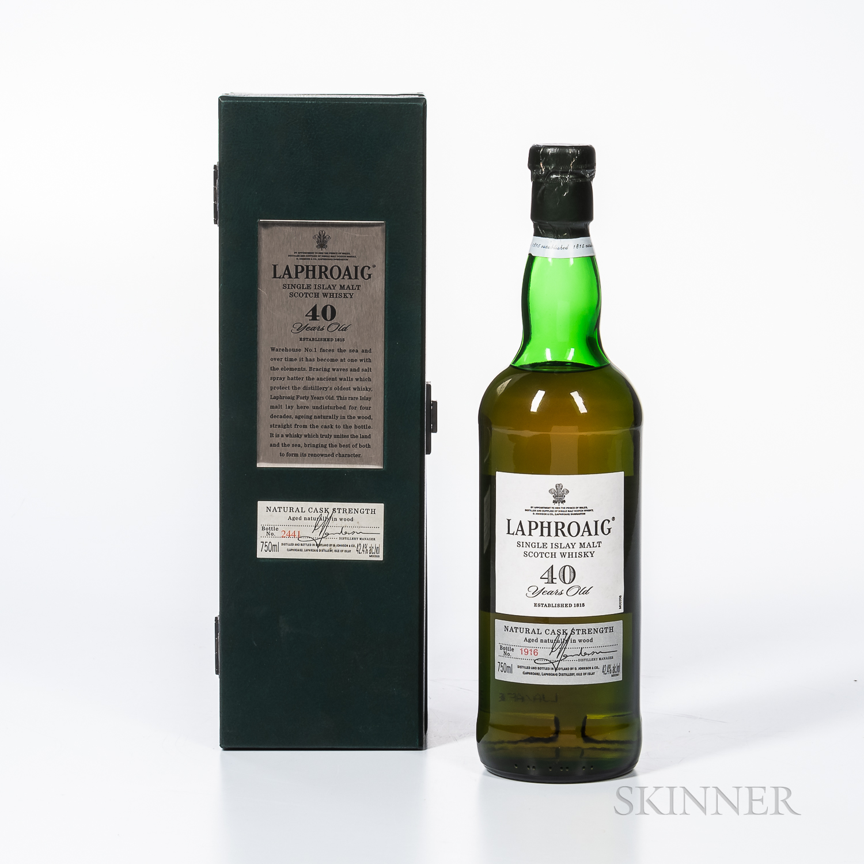 Laphroaig 40 Years Old, 1 750ml bottle (pc)