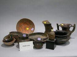 Group of Pre-Columbian Pottery Beads, Bowls and Sculptures.