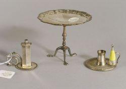 Three Miniature Silver Items