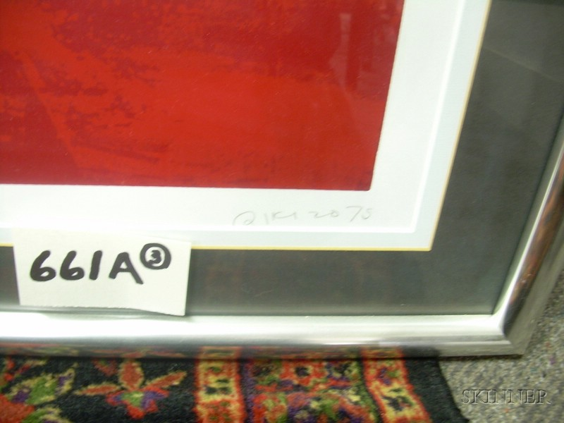 Three Framed Abstract Composition Serigraphs