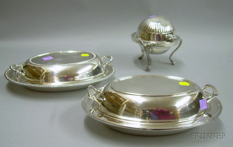 Three Silver Plated Serving Items