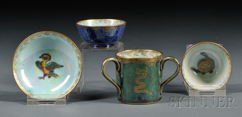 Four Wedgwood Lustre Items