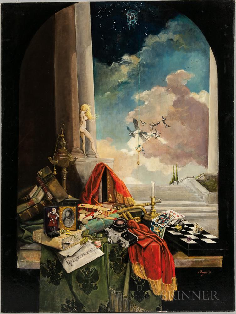 H. Victoria Ayers (American, 20th/21st Century)      Surrealist Still Life