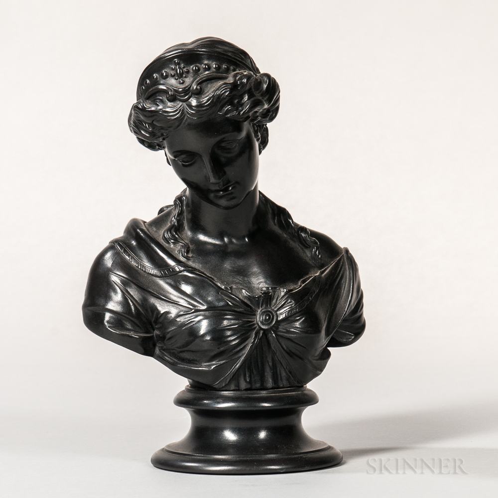Wedgwood Black Basalt Bust of Venus