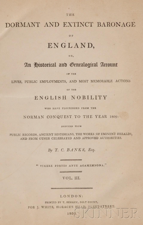 Banks, Thomas Christopher (1765-1854) The Dormant and Extinct Baronage of England