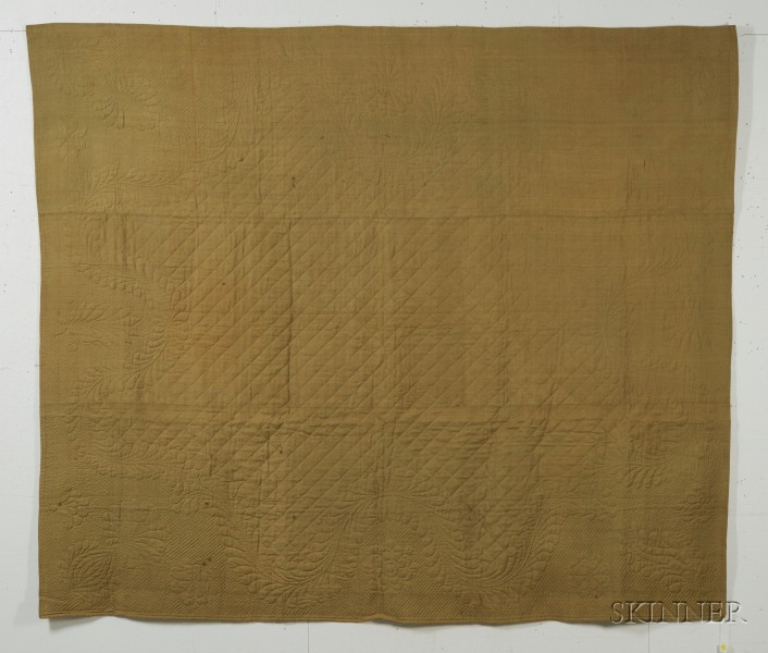 Gold Linsey-Woolsey Quilt