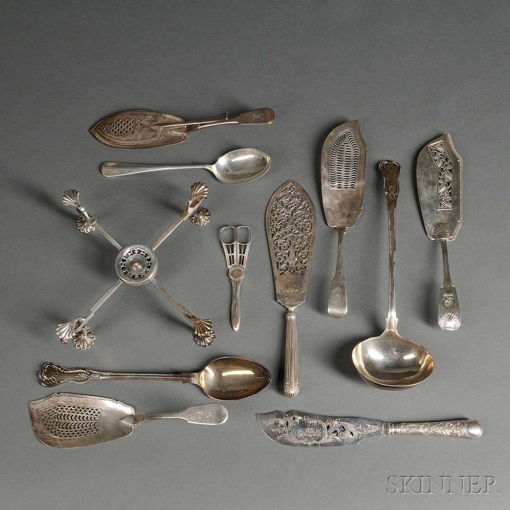 Assorted Group of English Sterling Silver Flatware