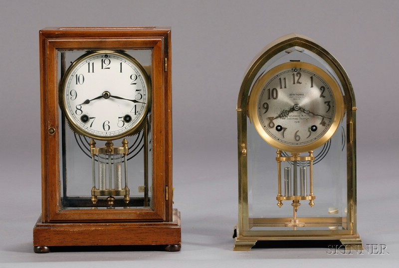 Two Crystal Regulator Clocks by New Haven and Seth Thomas