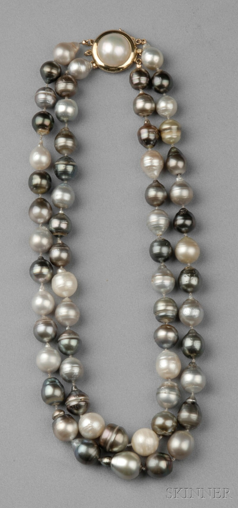 South Sea Baroque Pearl Double-strand Necklace