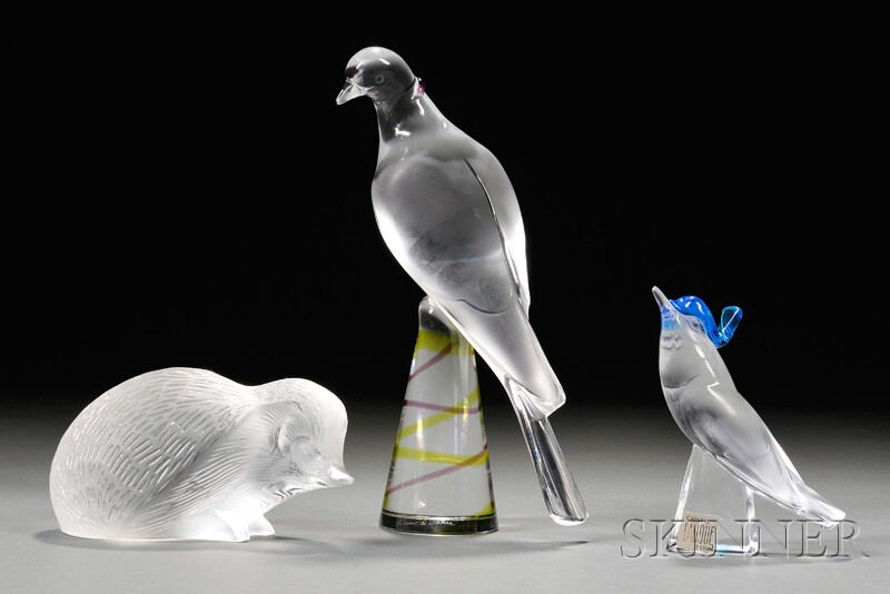 Three Lalique Glass Figures