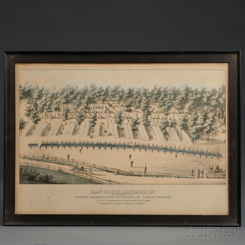 38th Massachusetts Regiment Lithograph