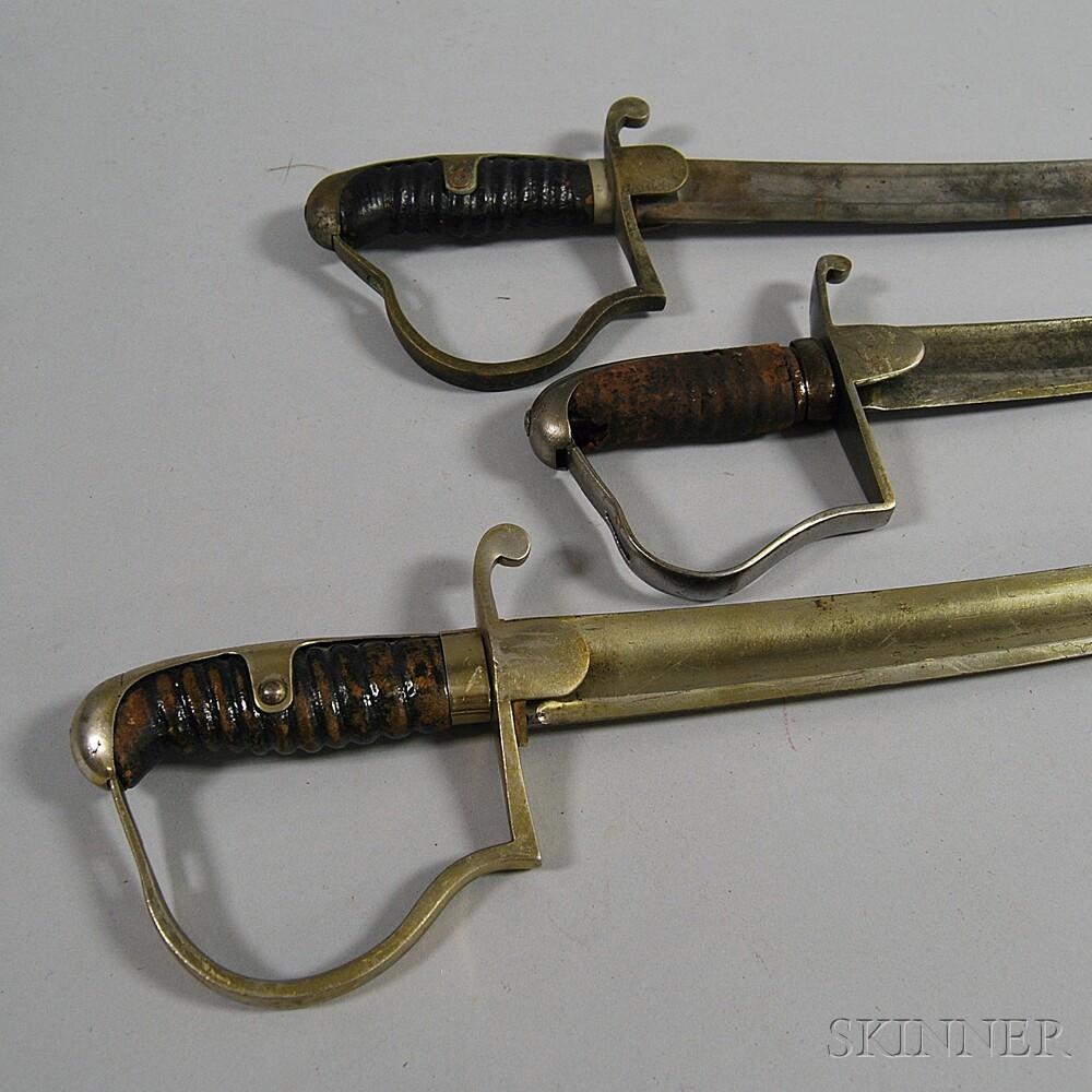 Three Continental Cavalry Sabers