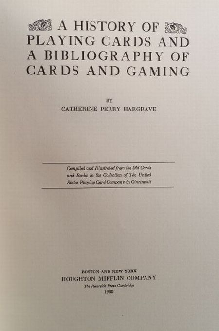 (Playing Cards, History)
