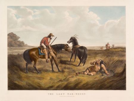 Nathaniel Currier, publisher (American, 1813-1888)    The Last War Whoop.