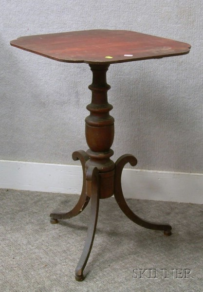 Federal Stained Cherry Tilt-top Candlestand.