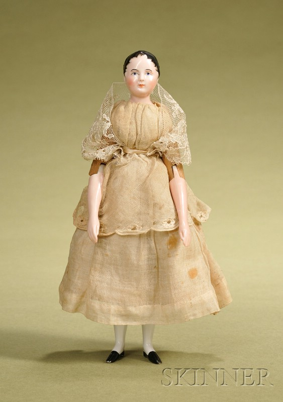 Fine China Lady with Wood Body